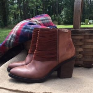 Pikolino Brown Leather/Suede Ankle Booties
